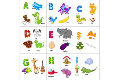 English alphabet with animals Bundle
