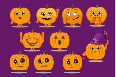 Halloween Cute Pumpkin Art