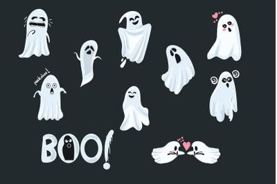 Halloween Cute Ghost Character