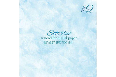 Soft blue watercolor background Blue stain wash texture