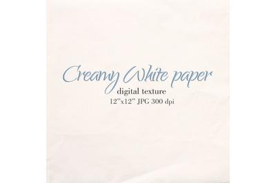 Creamy White paper background White paper texture