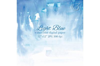 Blue watercolor gradient Light blue watercolor texture