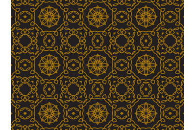 Pattern Gold Ornament Circle