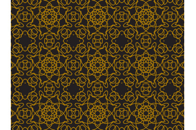 Pattern Gold Line Ornament Circle