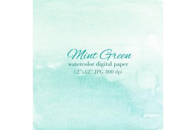 Mint green watercolor texture background Invitation design