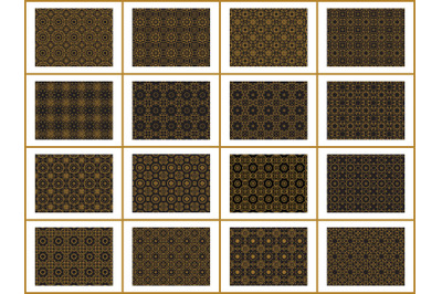 Pattern Gold Bundles 16 Ornament