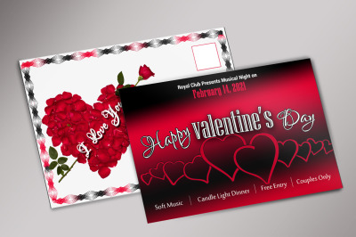 Valentine Day Postcard