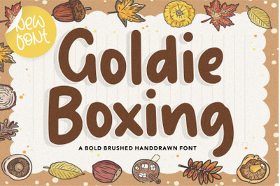 Goldie Boxing Bold Brushed Handdrawn Font