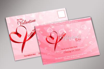 Valentine Day Postcard