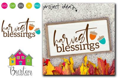 Harvest Blessings SVG File | Fall SVG File