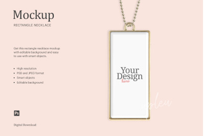 Rectangle Necklace Mockup