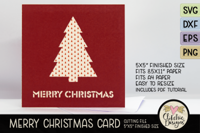 Merry Christmas Card SVG Cutting FIle