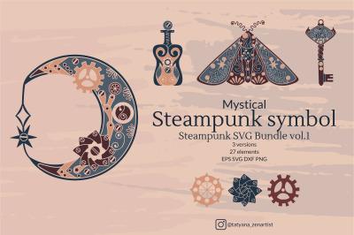 Mystical Steampunk Symbol, Steampunk SVG Bundle vol.1