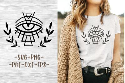 Boho svg logo Cricut designs Witchcraft svg  Witchy eye tattoo design