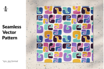 Colorful forms seamless pattern
