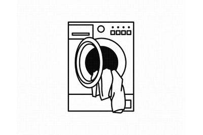 washing machine SVG, laundry PNG, DXF, clipart, EPS, vector cut file