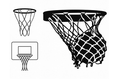 basketball net SVG, hoop PNG, court DXF, clipart, EPS, vector cut file