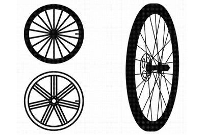 bicycle wheel SVG, bike wheel PNG, DXF, clipart, EPS, vector cut file