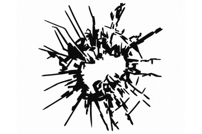 broken glass SVG, cracked glass PNG, DXF, clipart, EPS, vector cut fil