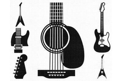 electric guitar SVG, heavy metal guitar PNG, DXF, clipart, EPS, vector