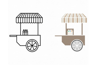 food cart SVG, fast food PNG, DXF, clipart, EPS, vector cut file