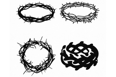 jesus crown of thorns SVG, PNG, DXF, clipart, EPS, vector cut file