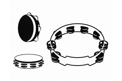 tambourine SVG, music PNG, DXF, clipart, EPS, vector cut file