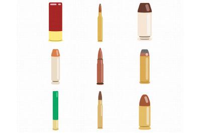 bullets SVG, shotgun shells PNG, DXF, clipart, EPS, vector cut file