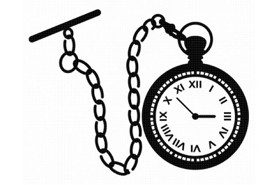 pocket watch SVG, PNG, DXF, clipart, EPS, vector cut file