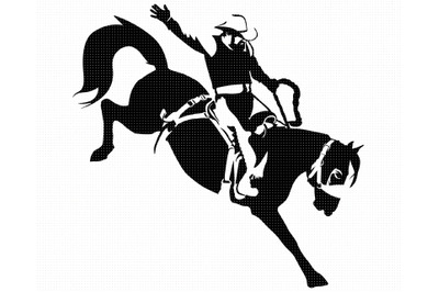 rodeo SVG, bronc riding PNG, cowboy DXF, clipart, EPS, vector cut file