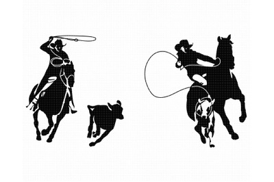 calf roping SVG, rodeo PNG, cowboy DXF, clipart, EPS, vector