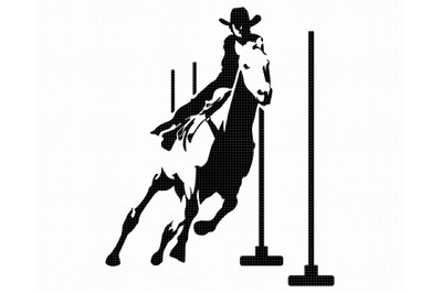 rodeo SVG, pole bending PNG, cowboy DXF, clipart, EPS, vector