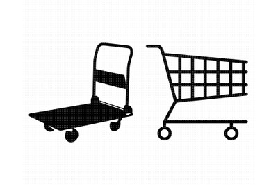 shopping cart SVG, trolley PNG, DXF, clipart, EPS, vector