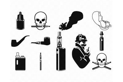 vape SVG, vaping PNG, pipe DXF, skull clipart, EPS, vector