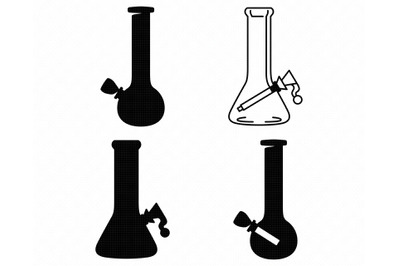 bong SVG, glass bong PNG, DXF, clipart, EPS, vector