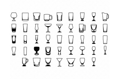 drinking glasses SVG, glass PNG, mug DXF, wine glass clipart, EPS