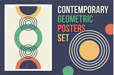 Contemporary geometric posters set