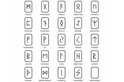 viking runes SVG, talisman PNG, DXF, clipart, EPS, vector