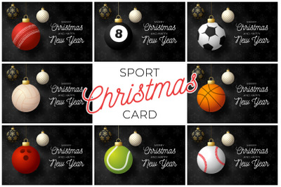 Christmas Sport Social Media Banners Set