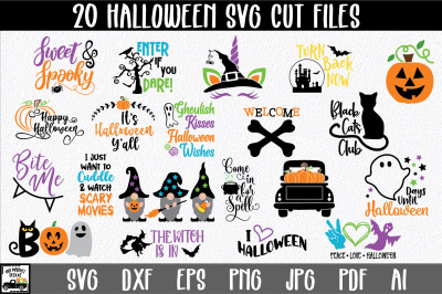 Halloween Bundle with 20 SVG Cut Files