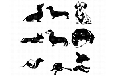 dachshund SVG, dog bundle PNG, DXF, clipart, EPS, vector