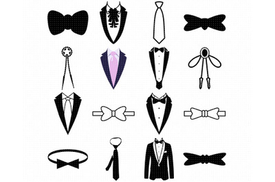 tuxedo SVG, neck tie PNG, ribbon DXF, clipart, EPS, vector