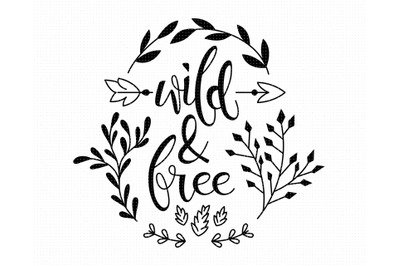 wild and free SVG, PNG, DXF, clipart, EPS, vector cut file