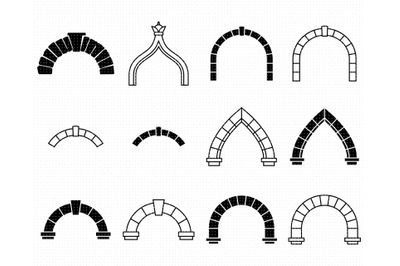 arches SVG, keystone PNG, door arch DXF, clipart, EPS, vector