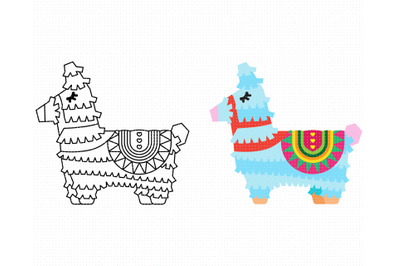 llama pinata SVG, PNG, DXF, clipart, EPS, vector cut file