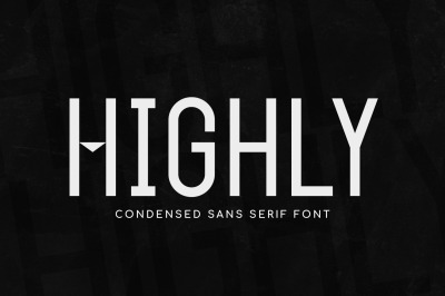 Highly - Condensed Sans Serif Font