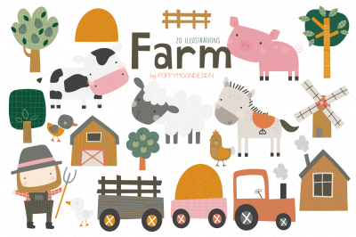 Farm Clipart set