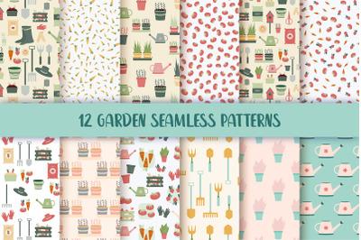 Garden Seamless Repeat Vector Patterns