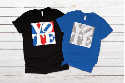 Vote Graphic Square | Applique Embroidery