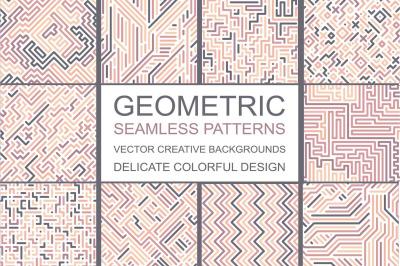 Color geometric seamless patterns